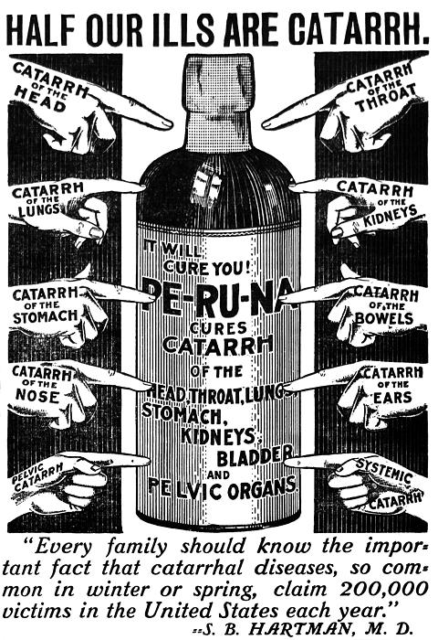 Catarrh Mixed Media - Catarrh Cure For What Ails You C. 1905 by Daniel Hagerman