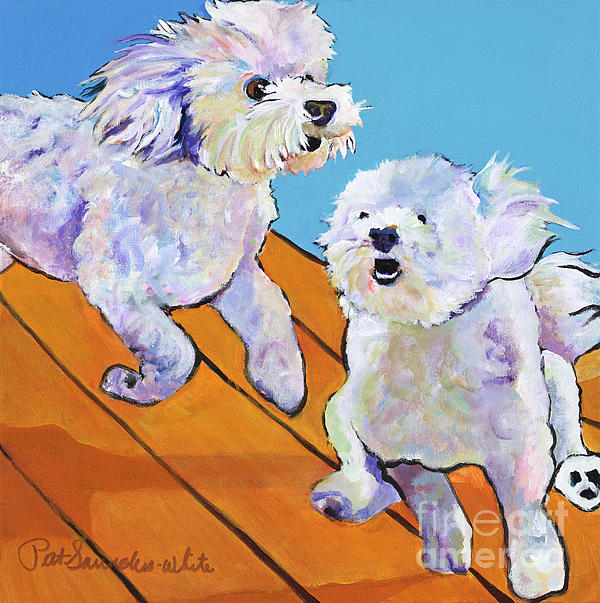 Dog Painting Painting - Catch Me     by Pat Saunders-White