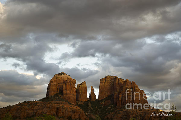 Color Photograph - Cathedral Rock by David Gordon