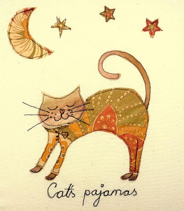 Cat Tapestry - Textile - Cats Pajamas by Hazel Millington