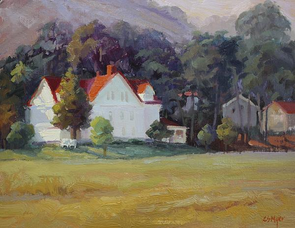 Landscape Painting - Cavallo Point by Carol Smith Myer
