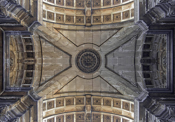 Lisbon Photograph - Ceiling  Arcoarua De Augusta by Nathan Mccreery