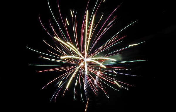 Fireworks Photograph - Celebration by Gene McKinley