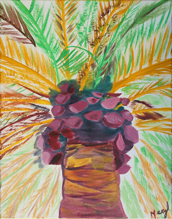 Palm Tree Painting - Celebration by Meryl Goudey