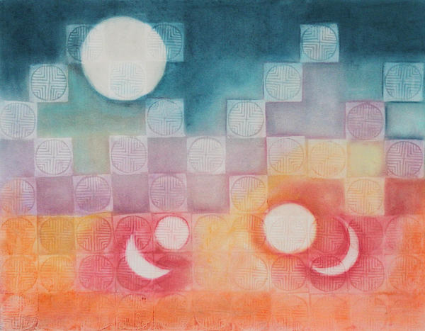 Abstract Painting - Celestial Matrix by Diana Perfect