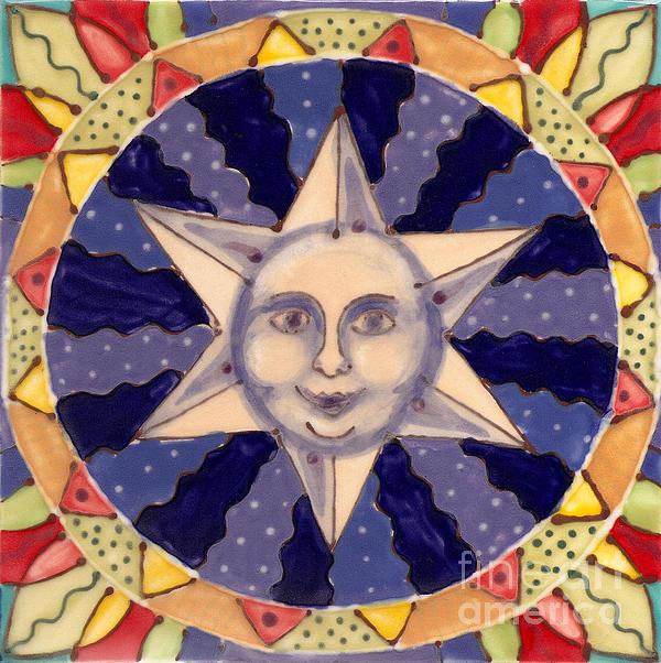 Star Painting - Ceramic Star by Anna Skaradzinska