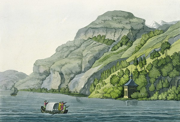 Landscape Drawing - Chapel Of William Tell, From Customs by Vittorio Raineri