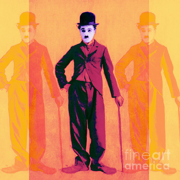 Charlie Photograph - Charlie Chaplin The Tramp Three 20130216 by Wingsdomain Art and Photography
