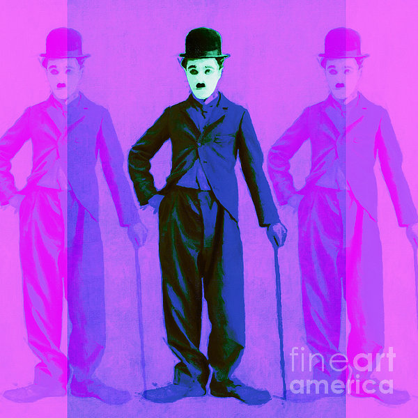 Charlie Photograph - Charlie Chaplin The Tramp Three 20130216m108 by Wingsdomain Art and Photography