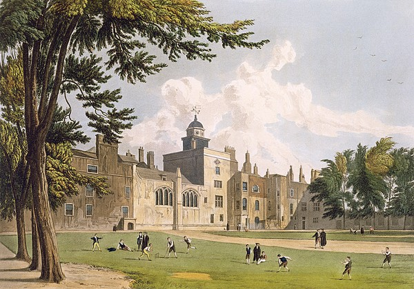 Charterhouse Drawing - Charter House From The Play Ground by William Westall