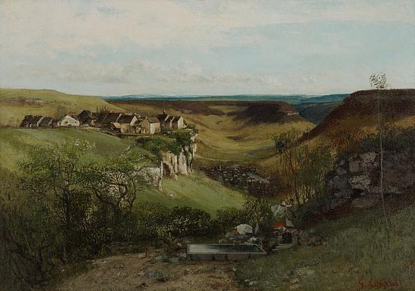 Ch�teau D�ornans Painting - Chateau Dornans by Gustave Courbet