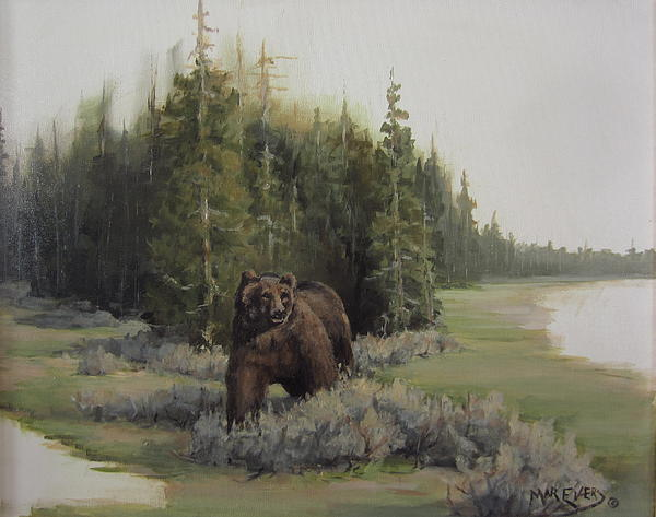 Animals Painting - Checkin His Territory  by Mar Evers