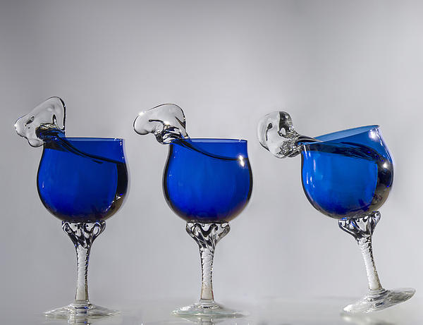 Blue Wine Glasses Photograph - Cheers by Paul Geilfuss
