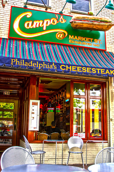 Cities Photograph - Cheesesteak by Frank Savarese