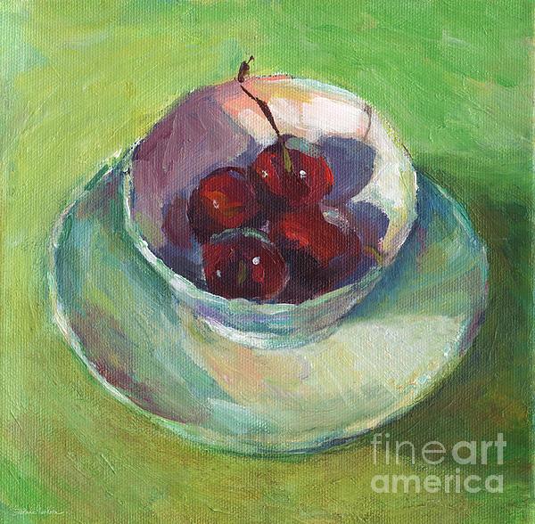 Cherries Painting - Cherries In A Cup #2 by Svetlana Novikova