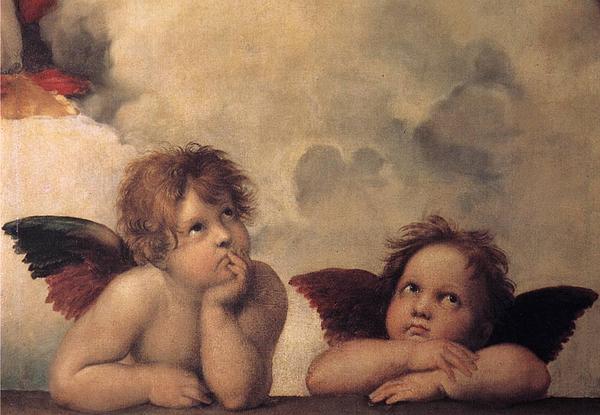 Nativity Painting - Cherubs On The Sistine Chapel by Raphael