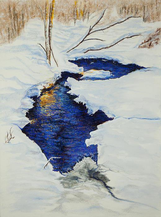 Pastel Pastel - Chester Creek by Jocelyn Paine