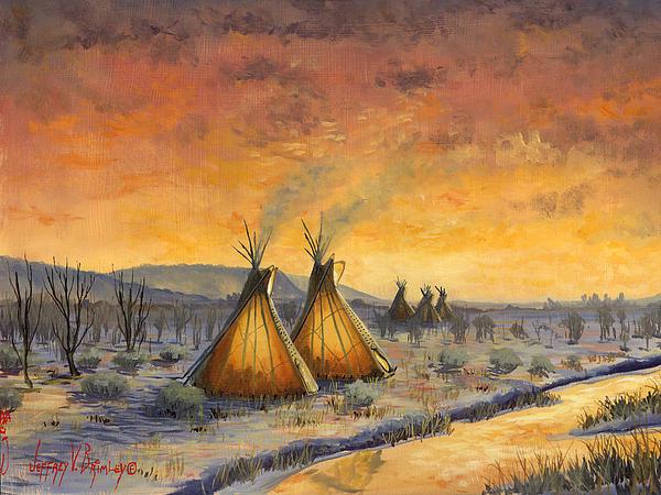 Jeffrey V Brimley Painting - Cheyenne Comfort by Jeff Brimley