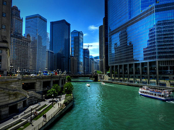 Chicago Photograph - Chicago River 003 by Lance Vaughn