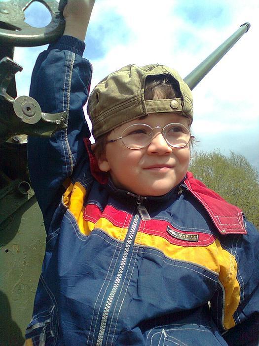 Photo Of The Child Photograph - Children Playing War. by Vitaliy Shcherbak
