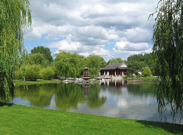 World Photograph - Chinese Tea Pavilion Near The Lake by Kiril Stanchev