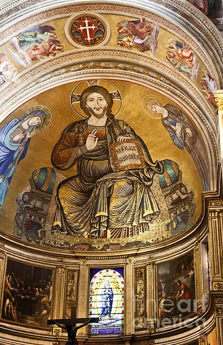 Christ In Majesty Photograph - Christ In Majesty  Pisa Duomo by Liz Leyden