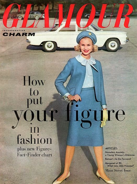 Christa Vogel On The Cover Of Glamour Photograph by Frances Mclaughlin-Gill