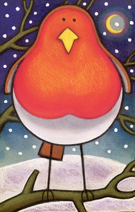 Christmas Painting - Christmas Robin by Cathy Baxter