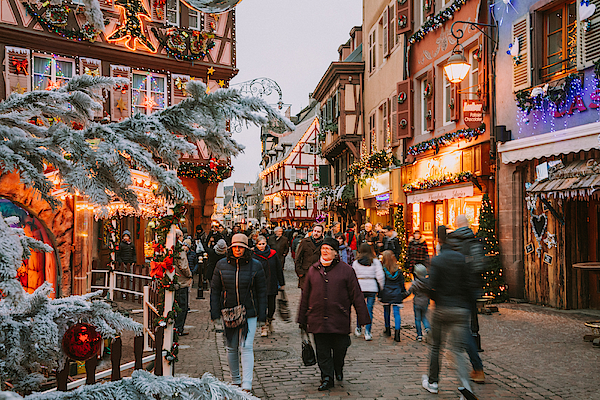 Christmas Time In Colmar, Alsace, France Photograph by Serts