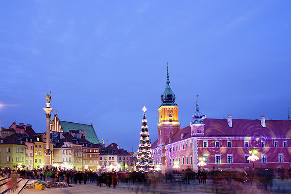 Architecture Photograph - Christmas Time In Warsaw by Artur Bogacki