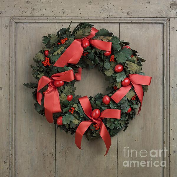 Advent Photograph - Christmas Wreath by Bernard Jaubert