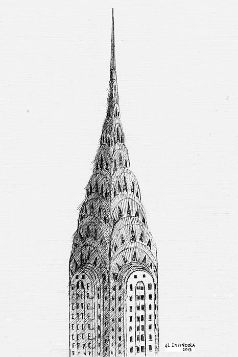 Building Drawing - Chrysler Building by Al Intindola