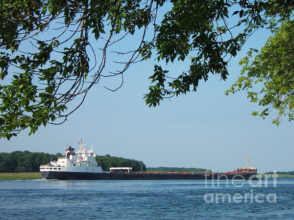 Ships Photograph - Chugging Along by Margaret McDermott