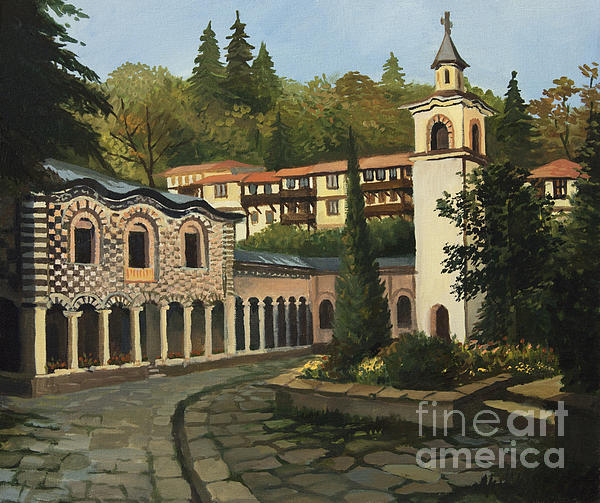 Arch Painting - Church In Blagoevgrad by Kiril Stanchev