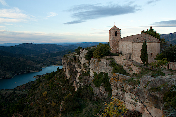 Church On Cliff By River Photograph by David Oliete