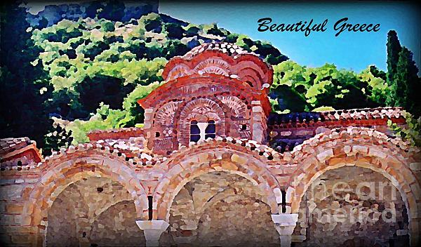 Church Ruins In Greece Painting - Church Ruins In Greece by John Malone