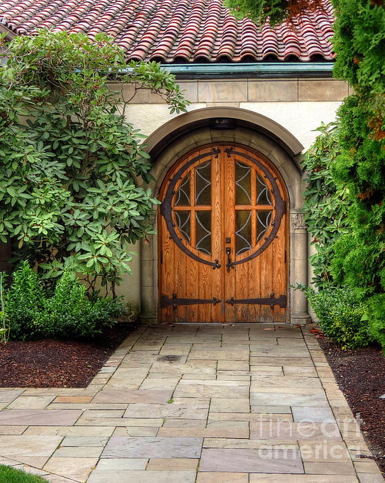 Terra Cotta Photograph - Church Side Door by Chris Anderson