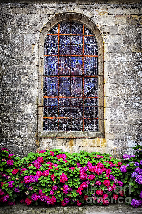 Old Photograph - Church Window In Brittany by Elena Elisseeva
