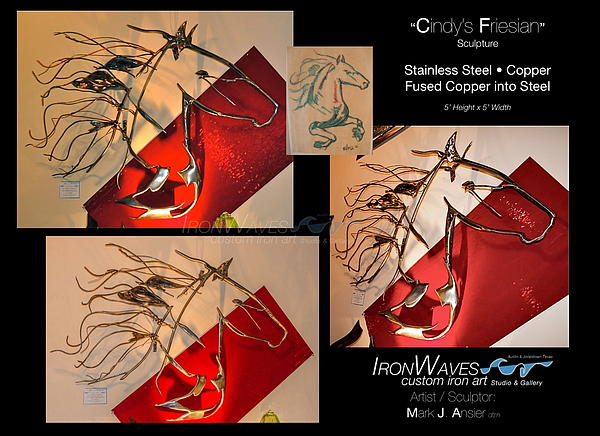 Brochure Sculpture - Cindys Friesian by Mark Ansier