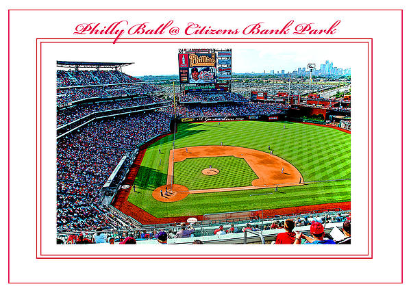 Citizens Bank Park Photograph - Citizens Bank Park Phillies Baseball Poster Image by A Gurmankin