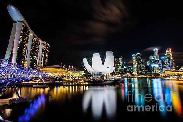 Landscape Photograph - City Of Light by Yoo Seok Lee