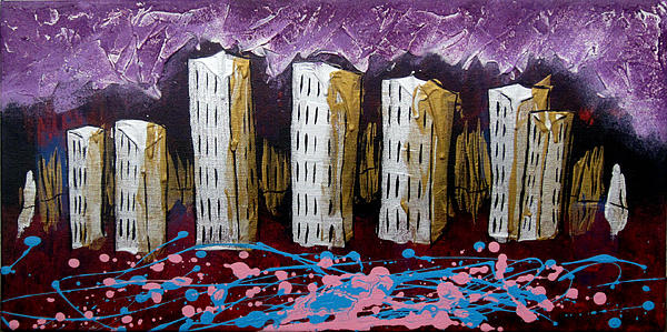 Cityscape Painting - Citys Leftovers by Nathan Wilson
