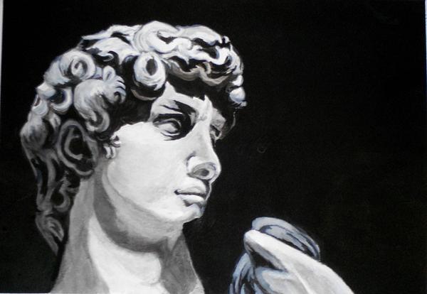 Greek Sculpture Painting - Classic by Liz Borkhuis