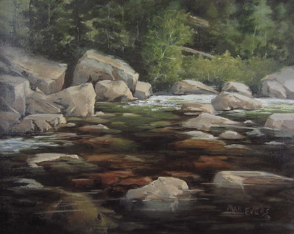 Stream Painting - Clear Creek by Mar Evers