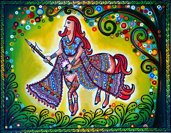 Horse Painting - Clement Combatant by Deepti Mittal