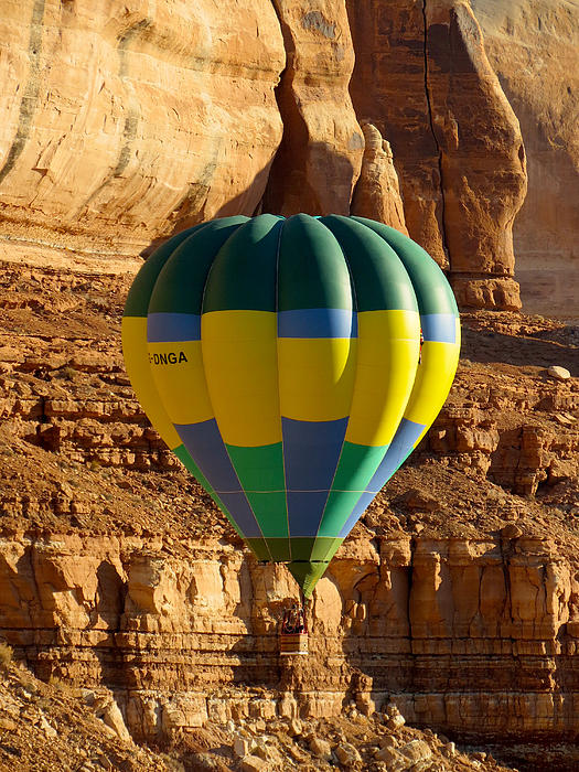 Bluff Balloon Festival Photograph - Cliff Coasting by Feva  Fotos