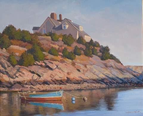 Newport Painting - Cliffside by Dianne Panarelli Miller