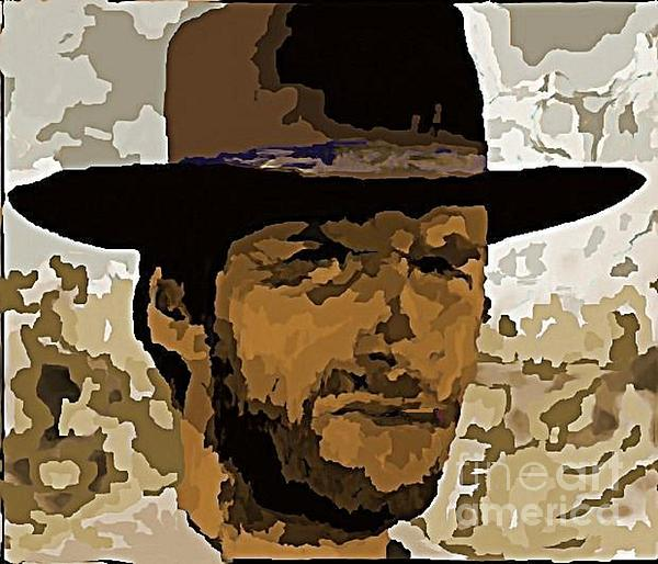 Clint Eastwood Painting - Clint Eastwood by John Malone