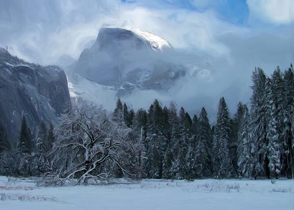 Half Dome Photograph - Cloaked In A Snow Storm by Heidi Smith