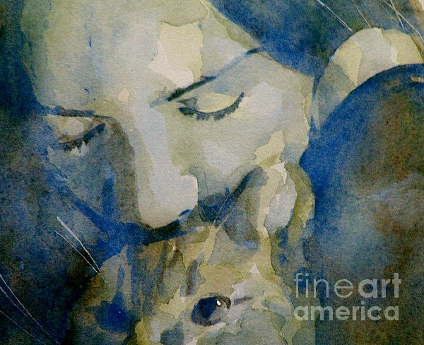 Cats Painting - Close My Eyes Lullaby Me To Sleep by Paul Lovering